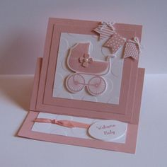 Card made with the Stampin Up Something for Baby Stamp Set & Baby's First Framelits Dies.
