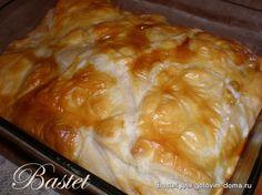 Греческий пирог с курицей (фаршем) с оригинальной формовкой | Четыре вкуса