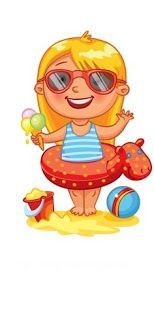 """Photo from album """"Времена года"""" on Yandex. Summer Crafts, Summer Fun, School Clipart, Cute Clipart, Digi Stamps, Months In A Year, Cute Illustration, In Kindergarten, Four Seasons"""