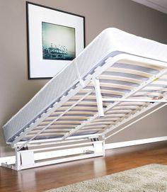 DIY murphy bed frame. Good for putting inside a closet.: