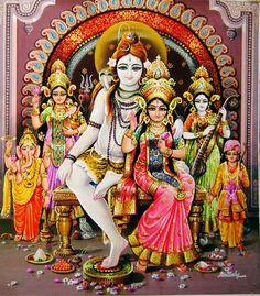 Shiva Family Artist: Kartick Das (via artremixx.com)