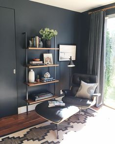 Not sure what colors to paint your home office? Check these best recommendations of home office paint color ideas to beautify room & increase productivity. Home Design, Home Office Design, Office Paint Colors, Paint Colors For Home, Midnight Blue Bedroom, Benjamin Moore Blue, Home Interior, Interior Design, Home Office Furniture