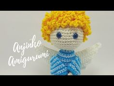 Anjinho Amigurumi | Por Jessica Santos - YouTube Crochet Animal Patterns, Crochet Doll Pattern, Crochet Gifts, Crochet Toys, Crochet Angels, Halloween Patterns, Crochet Videos, Knitted Dolls, Amigurumi Doll