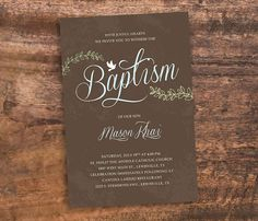 DIY Baptism Invitation Baptism Invite by SimplePieceDesigns, $13.00