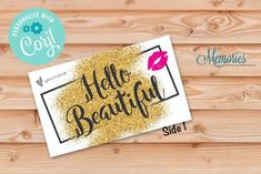 Younique Hello Beautiful Business Card is a great way to show off your business with Younique! Fall Pregnancy Announcement, Rodan And Fields Business, I Sent You, Love Your Skin, Chalkboard Signs, Hello Beautiful, Marketing Materials, Younique, Makeup Yourself