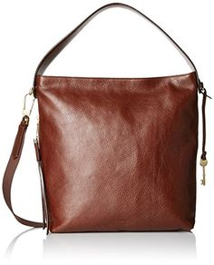 Women's Shoulder Bags - Fossil Maya Small Hobo Brown -- Details can be found by clicking on the image.