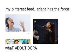 HAHA LIZA KOSHY ARIANA GRANDE DORA THE EXPLORER LOL FUNNY FRESH MEMES || follow rosegoldpug her pins are the :;best;: || WHYYY