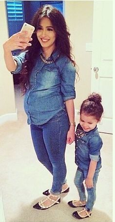 Mommy daughter Denim so cute Mother Daughter Outfits, Mommy And Me Outfits, Future Daughter, Baby Outfits, Kids Outfits, Mother Daughters, My Baby Girl, Mom And Baby, Baby Girl Fashion