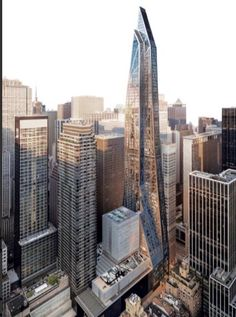 (MoMA Expansion Tower) by Pritzker Prize-Winning Architect Jean Nouvel, Manhattan . Height: 320 m. New York Architecture, Futuristic Architecture, Amazing Architecture, Architecture Design, Future Buildings, City Buildings, Modern Buildings, Contemporary Buildings, Building Icon
