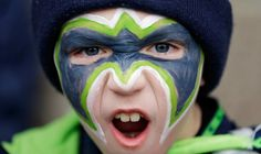 Seahawks Facepaint!  This will be my daughter's face 2/1/15.