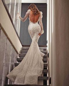 "30 Mermaid Wedding Dresses You""ll Admire ❤ mermaid wedding dresses with long sleeves backless train pallascouture #weddingforward #wedding #bride #weddingoutfit #bridaloutfit #weddinggown"