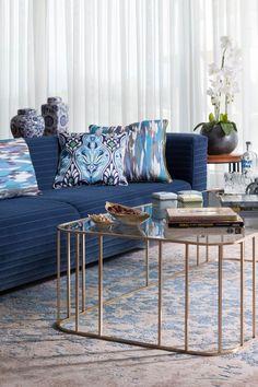 Blue Ocean Home by Annette Frommer Turquoise Cushions, Bleu Cobalt, Pantone 2020, Minimalist Decor, Interiores Design, Color Azul, Colorful Decor, Luxury Furniture, Decoration