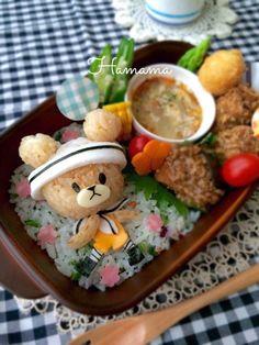 マリンハットを被ったジャッキー♡暮らしニスタ♡ Japanese Bento Lunch Box, Bento Box Lunch, Animal Shaped Foods, Cute Food Art, Plate Lunch, Cute Bento, Cooking For Beginners, Out To Lunch, Cute Desserts