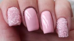 Light Pink Acrylic Nails With Diamonds - Believe it or otherwise, you do not need to be an musician to do your very own n Light Pink Nail Polish, Light Pink Acrylic Nails, Light Pink Nail Designs, Best Nail Art Designs, Cute Pink Nails, Cute Nail Art, Pink Manicure, Nude Nails, Nail Swag
