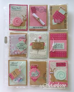 Pocket Letter by DT member Marleen with among others Collectables Snail (COL1364), Craftables Banners (CR1299), Creatables Confetti (LR0342) and Clear Stamps Snail Mail (CS0899) from Marianne Design