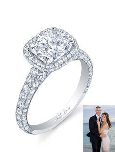 Ashley Hebert & J.P. Rosenbaum's Engagement Ring Season: 7 of The Bachelorette Couple: Ashley Hebert and J.P. Rosenbaum The Ring: A 3.5 carat, hand-made Neil Lane ring with a cushion cut diamond, accented with 162 round cut diamonds.