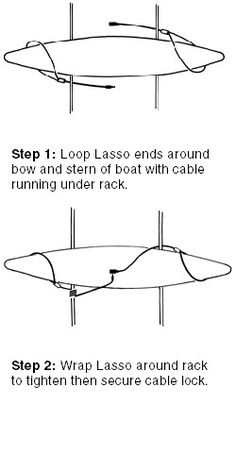 canoe roof rack | lasso security systems kayak rack canoe lock for car roof racks