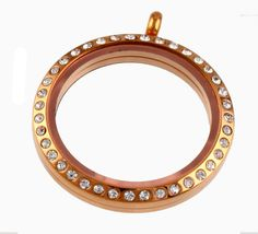 Circle of Life Rose Gold CZ Stones Floating Locket  $29.98