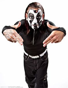 """""""Extreme Enigma"""" Jeff Hardy. Bryce used this face paint for Halloween"""