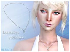 The Sims Resource: Lunafreya Necklace by Pralinesims • Sims 4 Downloads