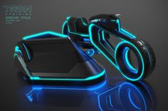 Tron: Uprising Vehicle Designs and Background Paintings Vaughan Ling - http://conceptartworld.com