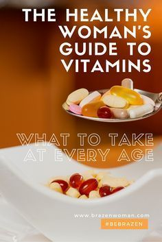 the Vitamin Guide: What Women Should Take in their 30s, 40s and 50s #Vitamintips