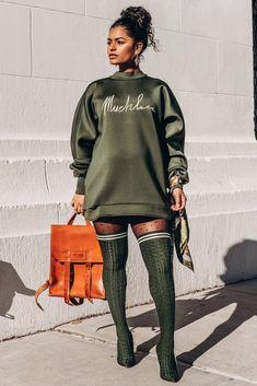 New – Muehleder Black Women Fashion, Look Fashion, Autumn Fashion, Womens Fashion, High Fashion, Office Fashion, Chic Outfits, Fall Outfits, Fashion Outfits