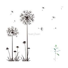 US DIY Removable Vinyl Dandelion Wall Sticker Decal Mural Home Room Wall Decor $4.97