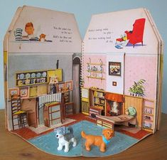 Doll's House Pop-up Book Paper Doll House, Paper Houses, Paper Dolls, Up Book, Book Art, Casa Pop, Origami Templates, Box Templates, Pop Up Art
