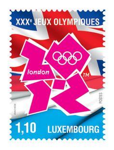 Luxembourg, timbre des Jeux Olympiques de Londres 2012 © DR.