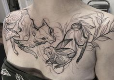 Sketch Tattoos That Look Like Pencil Drawings By Nomi Chi