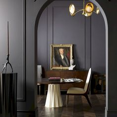 CONTEMPORARY DECOR | dark color walls and modern furniture design www.bocadolobo.com #contemporarydesign #contemporarydecor