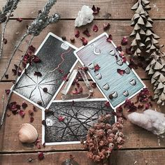 the wild unknown image via Wicca, Magick, Witchcraft, Tarot Cards For Beginners, Tarot Astrology, Oracle Tarot, Tarot Card Meanings, Witch Aesthetic, Magic Book