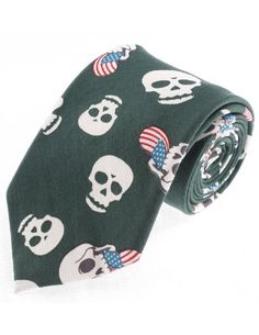 FLATSEVEN Mens Designer Cotton Skull Flag Pattern Neck Tie (YA010) Green FLATSEVEN http://www.amazon.com/dp/B00KRBMZ8W/ref=cm_sw_r_pi_dp_Gyolub11DXGAE