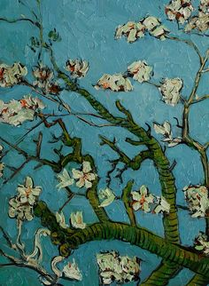 Vincent van Gogh,Branches of an Almond Tree in Blossom, détail