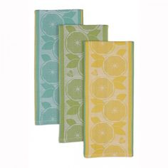 Liven up any kitchen with the Lemon Jacquard Dishtowels, available at the Food Network Store.