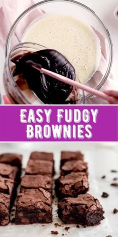 Brownie Recipe Video, Fudgy Brownie Recipe, Chewy Brownies, Brownie Recipes, Brownie Toppings, Easy Chocolate Desserts, Fun Desserts, Delicious Desserts, Fun Baking Recipes