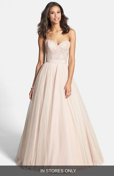 Nordstrom gown with a lace corset & tulle skirt