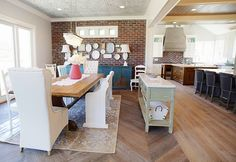 Love everything about the dining room set up.....House of Turquoise: Dream Home Tour - Day Two
