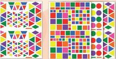 Gomets de diferentes formas y colores
