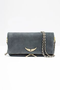 Zippered clutch by Zadig & Voltaire, two removable chains, to be worn crossbody or on your shoulder, Gossip Girl, Novelty Bags, Popular Bags, Vintage Bags, Satchel, Crossbody Bag, Cloth Bags, Luxury Handbags, Purses And Bags