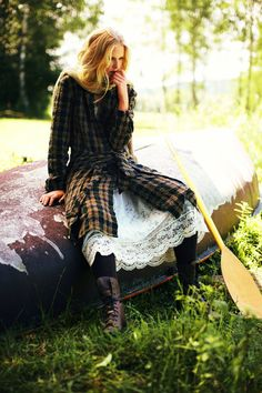 plaid dress by burda style magazine