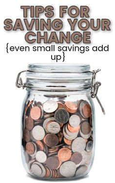 Whether you're saving for a goal or want to pay off debt, you can save your change as a great way to build your savings. Use these tips for saving your change to find out how even the small savings can add up over time with very minimal effort. #savings #saveyourchange #savingschallenge Change Jar, Savings Jar, Save Changes, Savings Challenge, Frugal Living Tips, Debt Payoff, Ways To Save, You Changed, Save Yourself