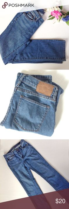 "Ralph Lauren Jean Co. Classic Straight Jeans Classic straight leg Jeans from Ralph Lauren Jean Co. Size: 4. Color: Blue. Inseam is approx 31"". 98% cotton, 2% elastane. Ralph Lauren Jeans Straight Leg"
