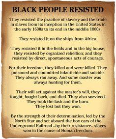 Black People Resisted