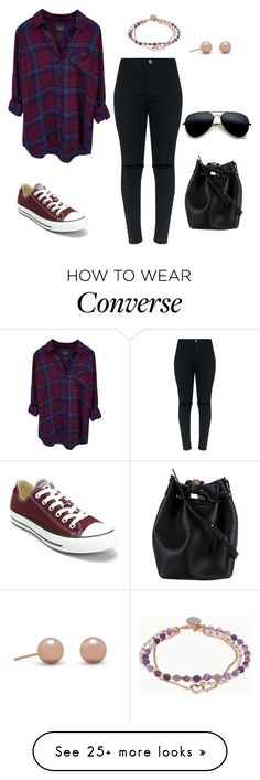 """Untitled #1146"" by kayla250 on Polyvore featuring Rails, Converse, Michael Kors and Love This Life"