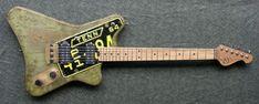 Custom Electric Guitars, Guitar Building, Guitar Design, Milk Paint, Cool Guitar, Axe, Music Instruments, Cool Stuff, Dogs