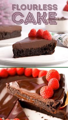 This Flourless Chocolate Cake recipe only requires ingredients you likely already have in your pantry and refrigerator! And it's sure to impress any chocolate lover with its fudge-like texture that's rich with flavor! Chocolate Cake Video, Chocolate Recipes, Chocolate Chocolate, Fancy Chocolate Desserts, Baking Recipes, Cake Recipes, Dessert Recipes, Sweet Recipes, Dinner Recipes