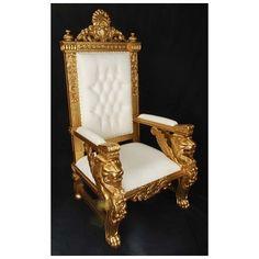 Harris Furniture, SP-1-GW, , Gold White Sphynx Chair
