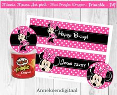 Minnie Mouse Mini Pringles Wikkels DIY printable